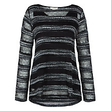 Buy Celuu Annabelle Lacy Knit Top, Black Online at johnlewis.com