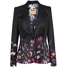 Buy Ted Baker Timila Shadow Floral Printed Jacket, Black Online at johnlewis.com