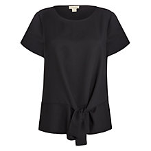 Buy Celuu Cassie Side Tie Blouse, Black Online at johnlewis.com