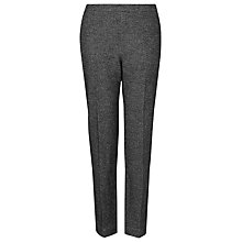 Buy L.K. Bennett Zenda Tapered Trousers, Black/Cream Online at johnlewis.com