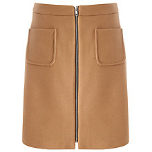 Buy Phase Eight Drue Wool Skirt, Camel Online at johnlewis.com