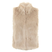 Buy Mint Velvet Faux Fur Gilet, Camel Online at johnlewis.com