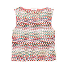 Buy Mango Openwork Top, Bright Red Online at johnlewis.com