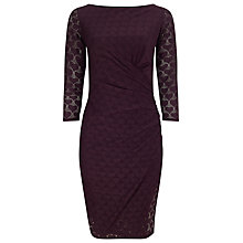 Buy Phase Eight Textured Heart Dress, Claret Online at johnlewis.com
