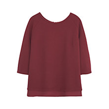 Buy Violeta by Mango Textured Cotton Sweatshirt, Dark Red Online at johnlewis.com
