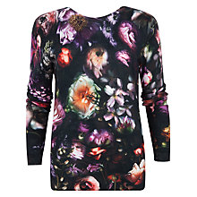 Buy Ted Baker Noline Shadow Floral Jumper, Mid Grey Online at johnlewis.com