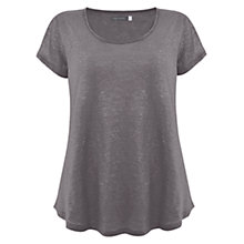 Buy Mint Velvet Shimmer T-Shirt Top, Grey Online at johnlewis.com