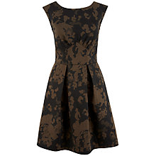 Buy Closet Army V-Back Dress, Khaki Online at johnlewis.com