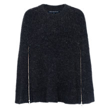 Buy French Connection Cara Crew Neck Jumper, Charcoal Mel Online at johnlewis.com