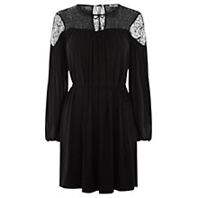 Buy Oasis Lace Yoke Peasant Dress Online at johnlewis.com