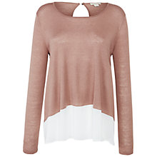 Buy Celuu Isabella Jumper With Pleated Chiffon Back Online at johnlewis.com