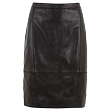Buy Mint Velvet Leather Pencil Skirt, Black Online at johnlewis.com
