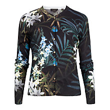 Buy Ted Baker Perrie Twilight Floral Cardigan, Black Online at johnlewis.com