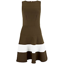 Buy Closet Contrast Fit And Flare Dress, Khaki Online at johnlewis.com