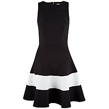 Buy Closet Flared Dress, Black/White Online at johnlewis.com