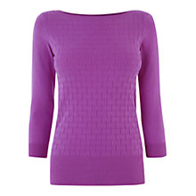 Buy Oasis Textured Boat Neck Jumper Online at johnlewis.com