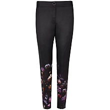 Buy Ted Baker Timlat Shadow Floral Trousers, Mid Grey Online at johnlewis.com