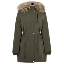 Buy Oasis Laura Parka Coat, Khaki Online at johnlewis.com