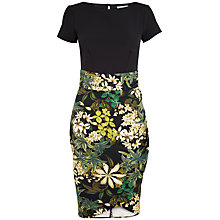 Buy Closet Floral Drape Dress, Multi Online at johnlewis.com
