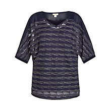 Buy Celuu Ava Three-Quarter Sleeve Batwing Top, Navy Online at johnlewis.com