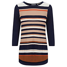 Buy Oasis Breton Stripe Sweater Jumper, Multi/Navy Online at johnlewis.com
