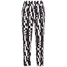 Buy Celuu Madison Geometric Print Peg Leg Trousers, Multi Online at johnlewis.com