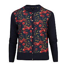 Buy Ted Baker Perl Cheerful Cherry Cardigan, Navy Online at johnlewis.com
