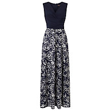 Buy Phase Eight Jodie Textured Maxi Dress, Navy/Ivory Online at johnlewis.com