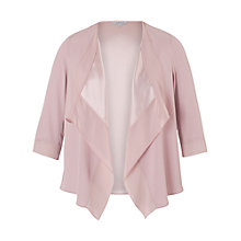 Buy Chesca Satin Back Crepe Waterfall Jacket, Powder Pink Online at johnlewis.com