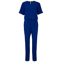 Buy French Connection Crepe Short Sleeve Jumpsuit, Prince Rocks Online at johnlewis.com