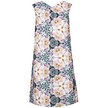 Buy Ted Baker Illonia Tile Floral Geo Shift Dress, Pale Pink Online at johnlewis.com