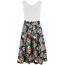 Buy Closet Lily Print V Back Dress, Multi Online at johnlewis.com