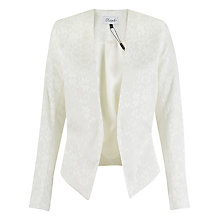 Buy Closet Diamond Jacquard Cropped Jacket, White Online at johnlewis.com