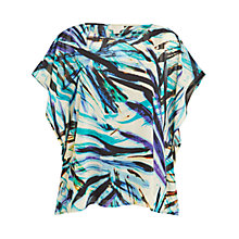 Buy Celuu Mia Square Kimono Palm Print Blouse, Multi Online at johnlewis.com