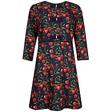 Buy Ted Baker Fyra Cheerful Cherry Bow Dress, Navy Online at johnlewis.com