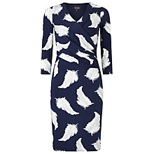 Buy Phase Eight Feather Print Dress, Navy/Grey Online at johnlewis.com