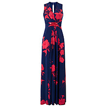 Buy Phase Eight Kazumi Maxi Dress, Navy/Red Online at johnlewis.com