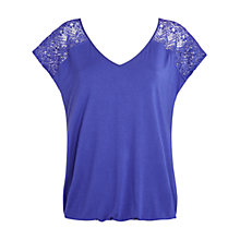Buy Celuu Lilah Bubble Hem Lace Yoke Top Online at johnlewis.com