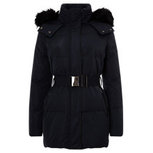 Buy Phase Eight Keela Faux Fur Trim Coat, Navy Online at johnlewis.com