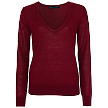 Buy French Connection Jupiter Long Sleeve Jumper, Red Online at johnlewis.com