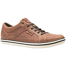 Buy Geox Box Cupsole Leather Trainers, Brown Cotto Online at johnlewis.com