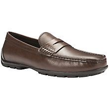 Buy Geox Monet Two Fit Leather Moccasin Shoes, Light Brown Online at johnlewis.com