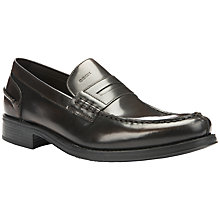 Buy Geox Silvio Leather Penny Loafer Shoes, Chestnut Online at johnlewis.com