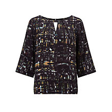 Buy Kin by John Lewis Rift Print Top, Black Online at johnlewis.com