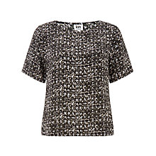 Buy Kin by John Lewis Osaka Print Top, Khaki Online at johnlewis.com
