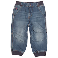 Buy Polarn O. Pyret Baby's Denim Cargos, Blue Online at johnlewis.com