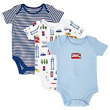 Buy John Lewis Baby London Bodysuits, Pack of 3, Multi Online at johnlewis.com