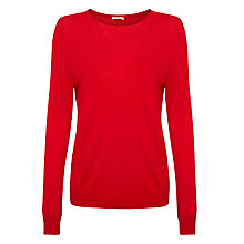 Buy American Vintage Blossom Round Neck Jumper, Carmin Online at johnlewis.com