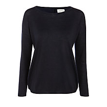 Buy Hartford Musik Wool-Blend Jumper, Navy Online at johnlewis.com