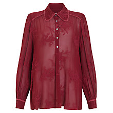 Buy Ghost Embroidered Georgette Blouse, Berry Online at johnlewis.com